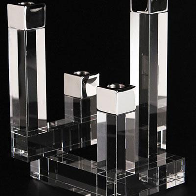 Orrefors Crystal, Chimney Crystal Candleholder, 4 Arm