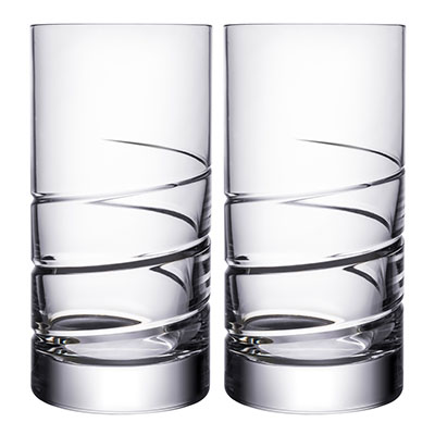 Orrefors Crystal, Swerve Tumbler, Pair
