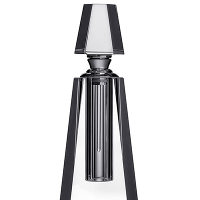 Orrefors Crystal, Ice Pyramid Crystal Perfume Bottle