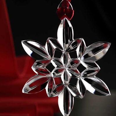 Orrefors Snowflake Ornament