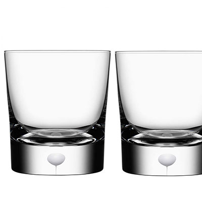 Orrefors Crystal, Intermezzo Satin OF Tumbler, Pair