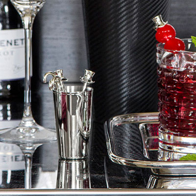 Ralph Lauren Finley Cocktail Picks and Holder, Set of 8