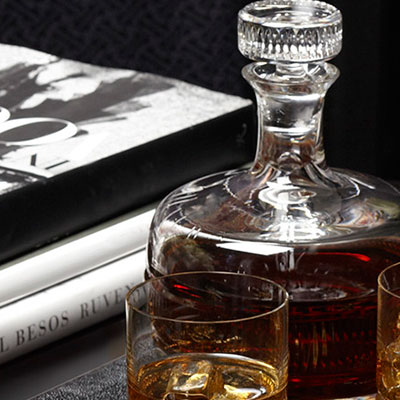 Ralph Lauren Broughton Crystal Decanter