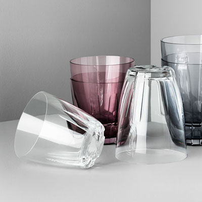 Kosta Boda Bruk Small Clear Tumbler, Pair