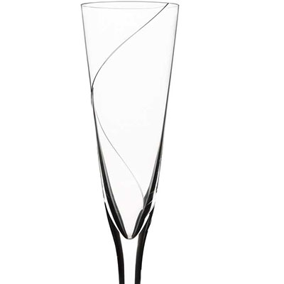 Kosta Boda Line Crystal Flute, Single