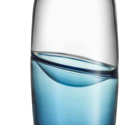 Kosta Boda Septum Crystal Vase, Steel Blue, Limited Edition of 300