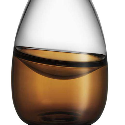 Kosta Boda Septum Crystal Vase, Golden Brown, Limited Edition of 300