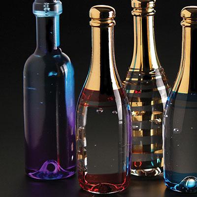 Kosta Boda Celebrate Champagne Bottle, Red