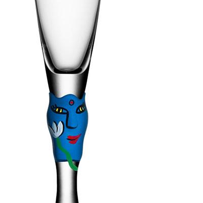 Kosta Boda Open Minds Blue Champagne, Single