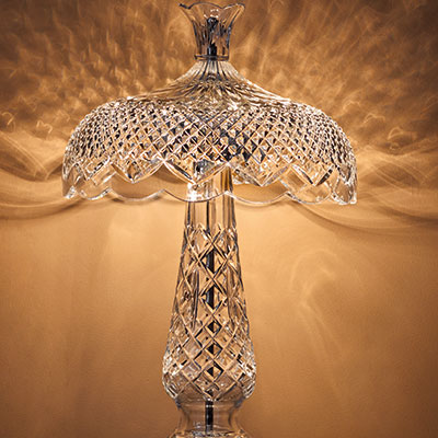 "Waterford Crystal, Aran Islands Achill, 19"" Crystal Lamp"