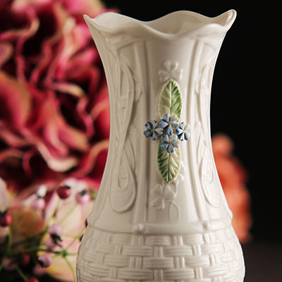 Belleek China Kells Forget Me Not Vase