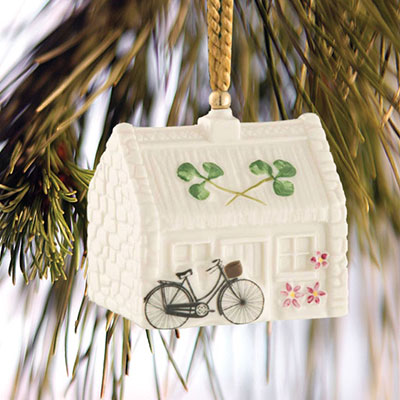 Belleek China Nell's Cottage Ornament