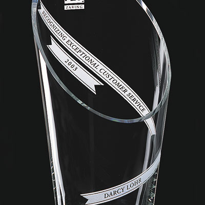 Crystal Blanc, Personalize! Aspire Crystal Vase 10.5""