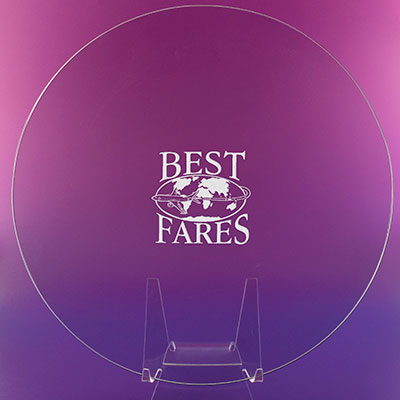 """Crystal Blanc, Personalize! 8"""" Award Plate"""