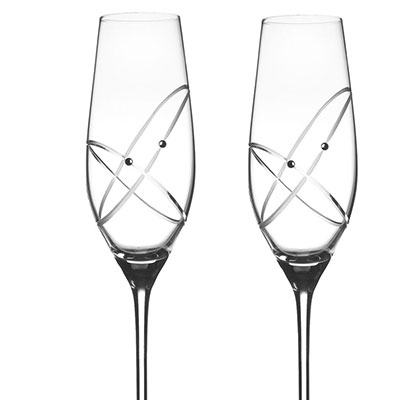 Royal Doulton, Celebrations With This Ring Toasting Crystal Flute, Pair
