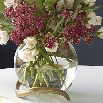 Nambe Eco Crystal Rose Bowl