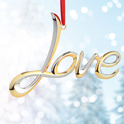 Nambe 2017 Love Ornament