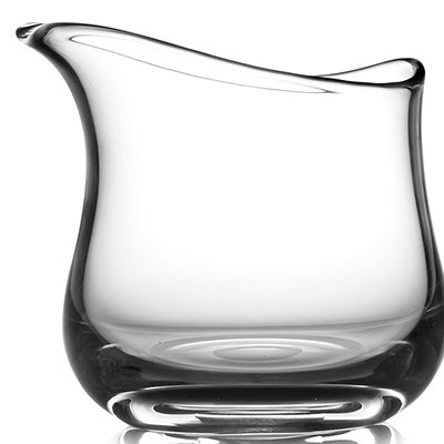 Nambe Moderne Short Art Crystal Vase, Clear