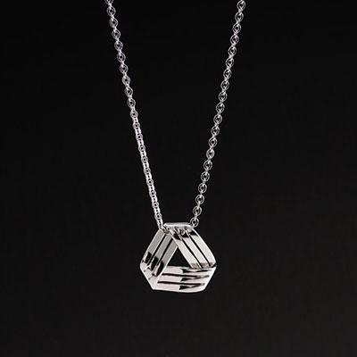 Cashs Ireland, Sterling Silver Celtic Weave Pendant Necklace