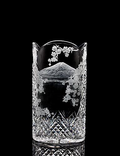 "Waterford House of Waterford Mount Fuji 12"" Engraved Vase"