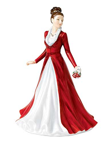 Royal Doulton China Pretty Ladies, Songs of Christmas, Jingle Bells