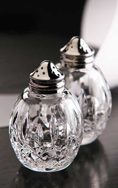 Waterford Crystal, Giftology Lismore Round Salt and Pepper Set