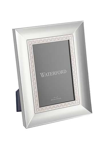 """Waterford Crystal, Lismore Lace Silver 4x6"""" Picture Frame"""