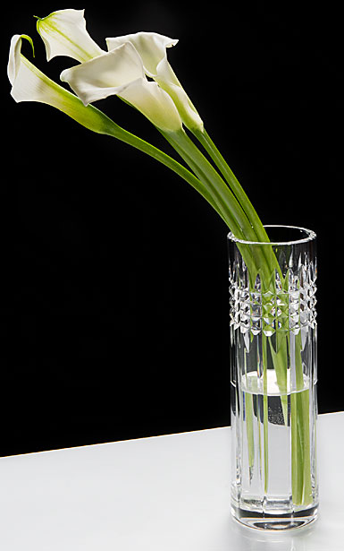 "Waterford Crystal, Jeff Leatham Fleurology Tina 9"" Clear Bud Crystal Vase"