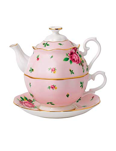 Royal Albert China New Country Roses Pink Tea Party For One