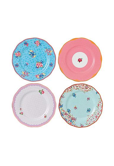 "Royal Albert Candy Plate 8"" Set Of 4"