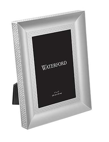 "Waterford Crystal, Lismore Diamond Silver 4x6"" Picture Frame"