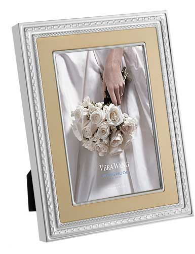 "Vera Wang Wedgwood With Love Gold 4""x6"" Frame"