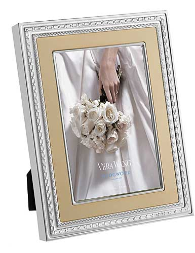 """Vera Wang Wedgwood With Love 5x7"""" Gold Picture Frame"""