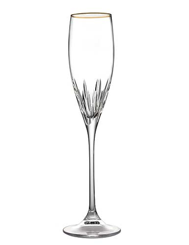 Vera Wang Wedgwood, Duchesse Gold Crystal Flute. Single