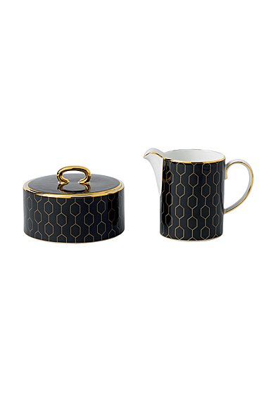 Wedgwood Arris Accent Cream and Sugar Set