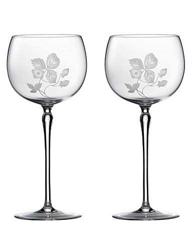 Wedgwood Wild Strawberry Al Fresco Glass Goblet, Pair
