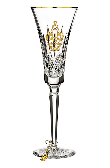 Waterford 12 Days of Christmas 2017 Lismore Eight Maids Gold Flute, Single