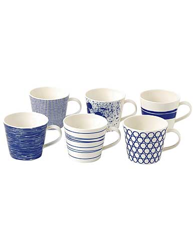 Royal Doulton Pacific Set of Six Accent Mugs Mixed Patterns