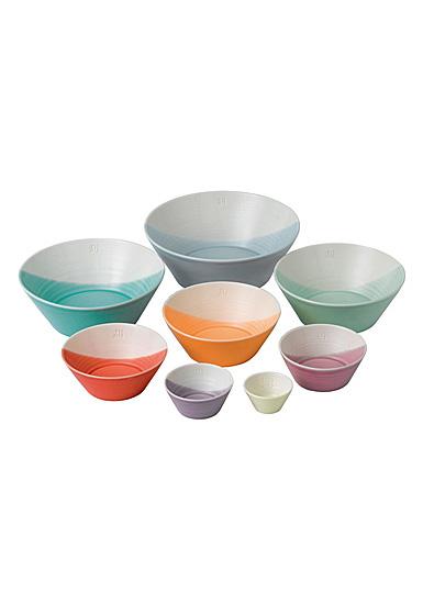 Royal Doulton 1815 Mixed Bowls Set of 8 Bright Colors