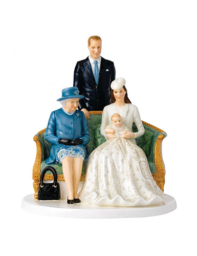 Royal Doulton Her Majesty A Royal Christening, Limited Edition of 2000