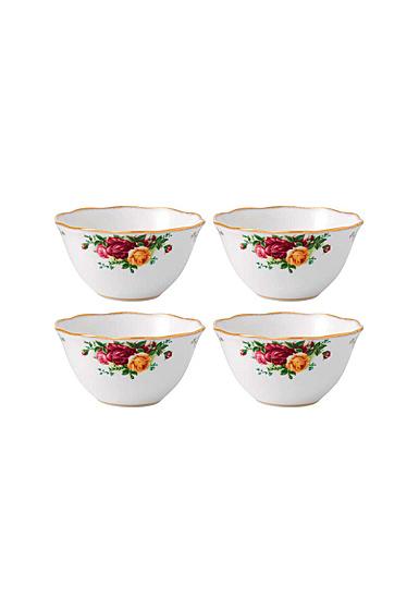 "Royal Albert Old Country Roses Bowl 4.3"" Set Of 4"
