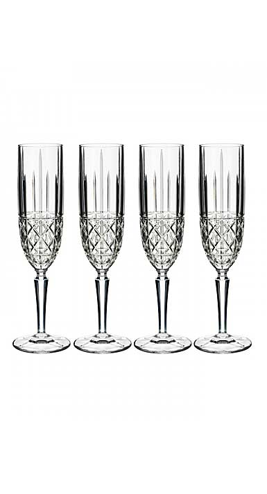 Marquis by Waterford Crystal, Brady Crystal Flute, Set of Four