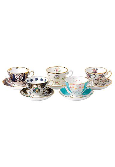 Royal Albert 100 Years 1900-1940 5-Piece Teacup and Saucer Set