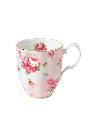 Royal Albert 100 Years 1980 Mug 14.1 Oz Rose Blush