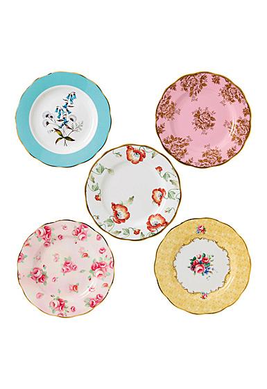 "Royal Albert 100 Years 1950-1990 5-Piece Plate 8"" Set"