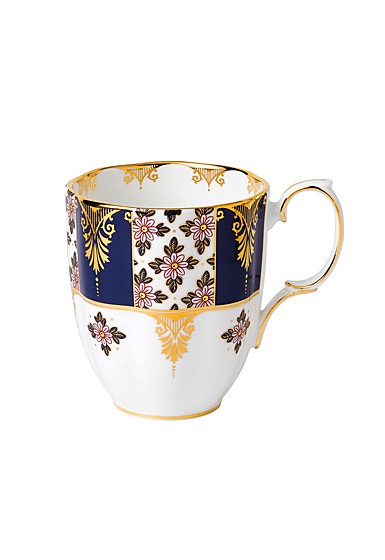 Royal Albert 100 Years 1900 Mug 14.1 Oz Regency Blue