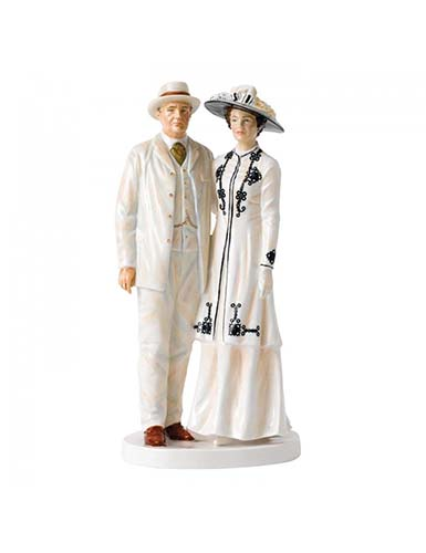 Royal Doulton China Pretty Ladies, Lord and Lady Grantham, Limited Edition