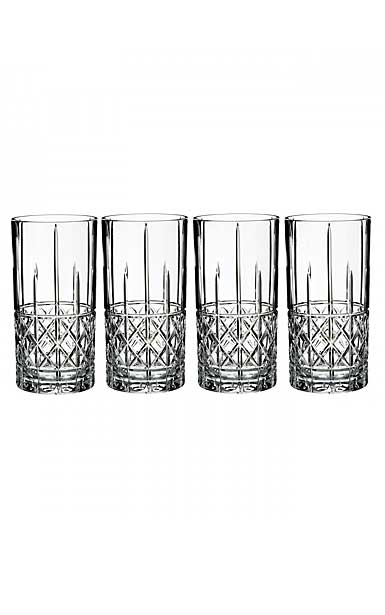 Marquis by Waterford Crystal, Brady Crystal Hiball, Set of Four