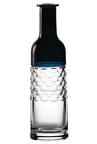 "Waterford Jo Sampson Half and Half 12"" Bottle Vase, Teal"