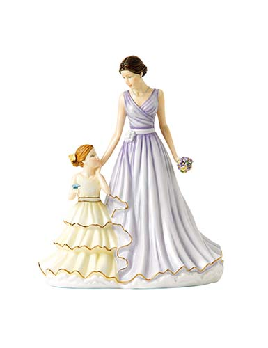 Royal Doulton China Pretty Ladies 2017 Mother's Figure of the Year, Precious Memories